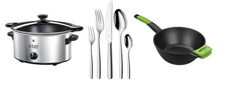 Ofertas del día de Amazon en su sección de cocina: wok Bra, olla Russell Hobbs y cubertería WMF