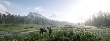 De praderas, caballos y montañas heladas como telón de fondo