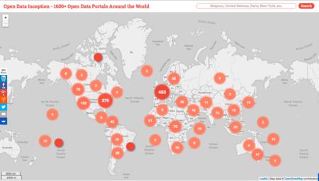 Este es el mapa mundial de la transparencia informativa y el Open Data