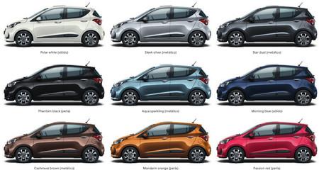 Hyundai I10 2017 Colores Carroceria