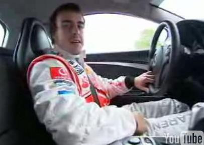 Video de Fernando Alonso jugando con un Mercedes SLR McLaren