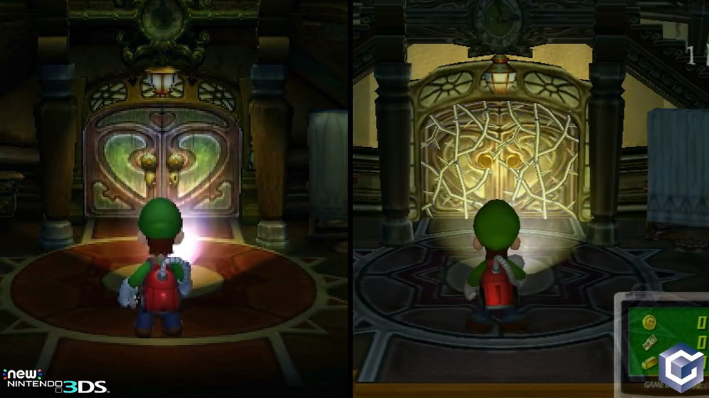 Luigi's Mansion en Nintendo 3DS frente a la versión de  GameCube en una comparativa de Digital Foundry