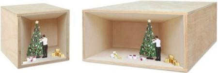 Cajas escenario Navidad