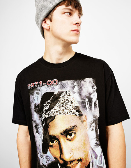 Hip Hop Print Bershka Tshirts Trend