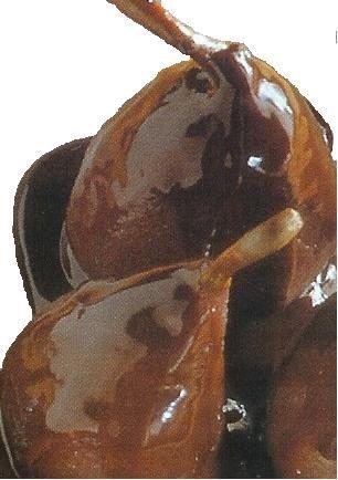 Deliciosas peras al chocolate