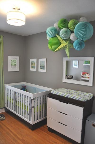 Habitaciones de beb en gris for Baby room decorating ideas uk