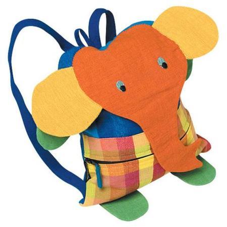 Colorida mochila-elefante para hacer en casa