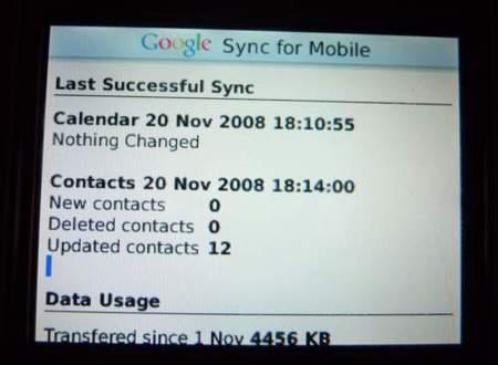 Sincroniza tus contactos con Google Sync para Blackberry