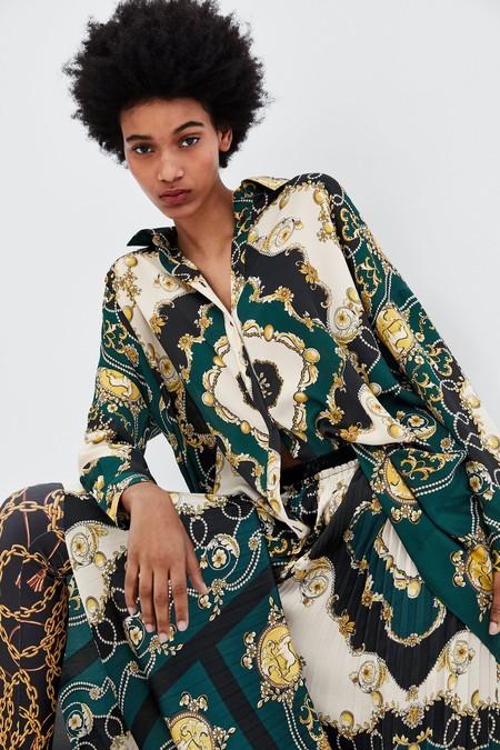 Camisa Panuelo Zara