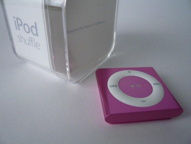 iPod shuffle rosa