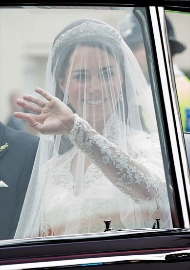 Kate Middleton: Blanca y radiante va la novia