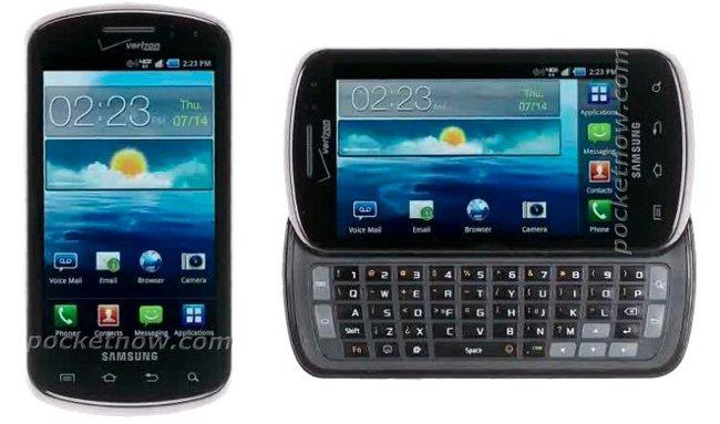 Samsung Galaxy S II de Verizon, con teclado slider