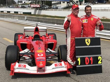 Marc Gené bate otro récord con un Ferrari F1: la vuelta más rápida de la historia de Road Atlanta