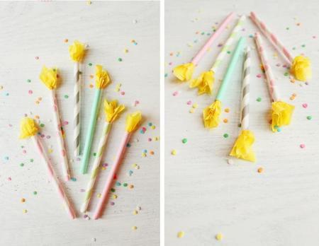 velas de papel para decorar cupcakes - toppers