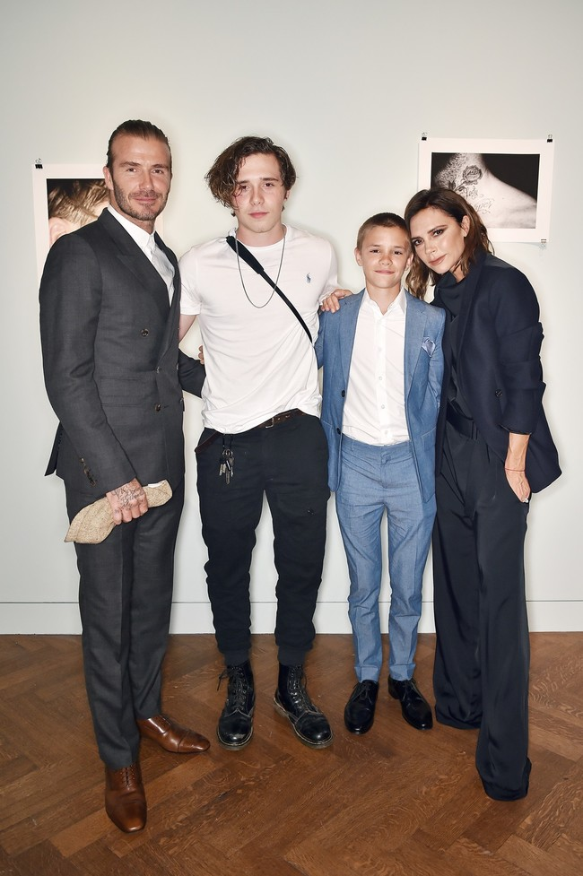 David Beckham Brooklyn Beckham In Polo Ralph Lauren Romeo Beckham