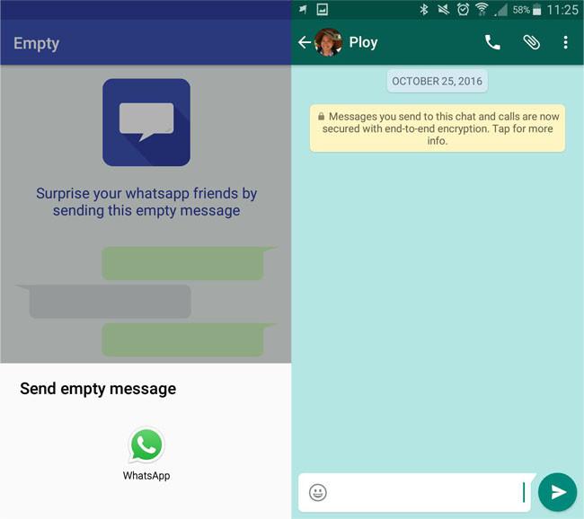 Bien connu Con il Vuoto, è possibile inviare messaggi vuoti in WhatsApp per  NM76