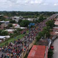 #CaravanaMigrante: así de impresionante se ve una multitud errante en México desde drones en el cielo