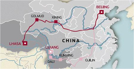 Ruta Beijing a Lhasa