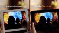 Amazon compara el Kindle Fire HD y el iPad con pantalla Retina en su último anuncio