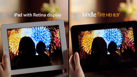 Amazon compara el Kindle Fire HD y el iPad con pantalla Retina en su último anuncio