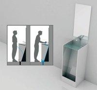 Urinario con lavabo ecológico