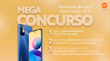 #Megaconcurso Xiaomi: si encuentras un Redmi Note 10 5G durante el livestream de presentación, te lo quedas
