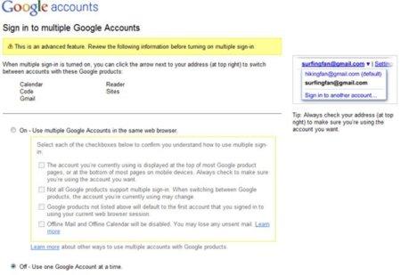 Google permitirá acceder a varias cuentas desde el mismo navegador