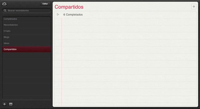 iCloud Recordatorios
