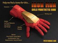 Pat Starace diseña una prótesis para que los niños se sientan como súper héroes