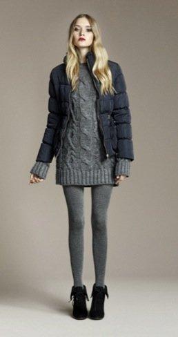 Zara Otoño 2010 abrigo acolchado
