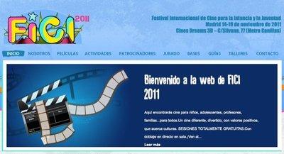 La VIII edición del Festival de Cine para la Infancia y la Juventud se celebrará del 14 al 19 de noviembre 2011 en Madrid