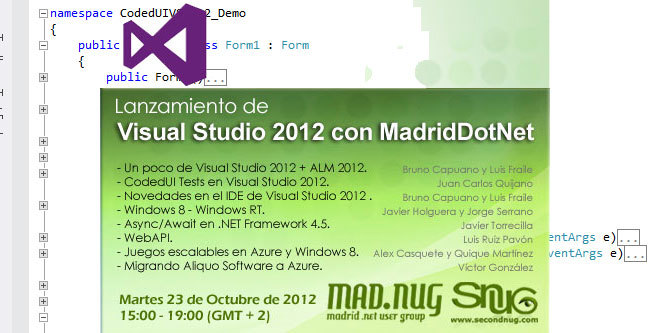 Visual Studio 2012 con MadridDotNet