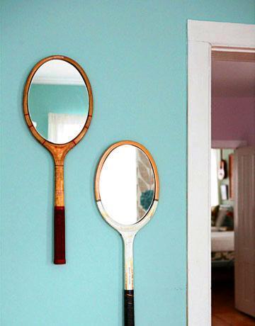 Hazlo tú mismo: convierte unas raquetas antiguas en espejos