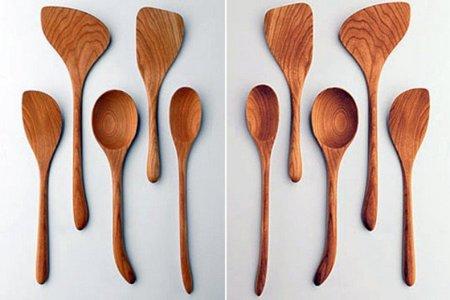 Cucharas de madera para zurdos, sin excusa para cocinar