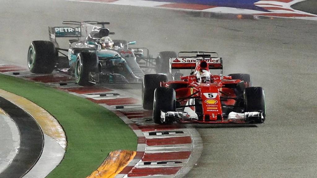 Lewis Hamilton y Sebastian Vettel quieren resolver su empate a victorias en Singapur