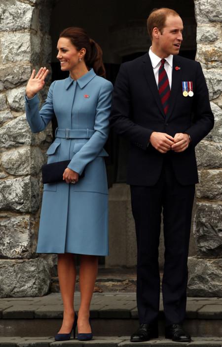 Kate Middleton en Nueva Zelanda vestida de azul