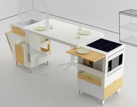 Una vista general de la cocina Rubika.