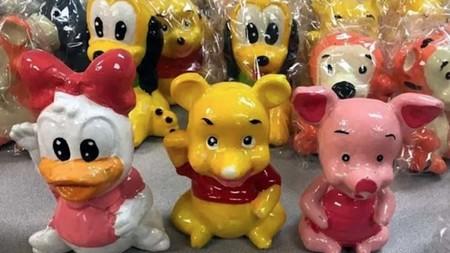 Estas figuras de cerámica de personajes de Disney no solo son aterradoras, fueron usadas para transportar droga de México a EUA