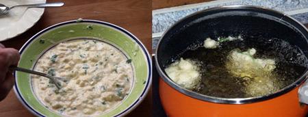buñuelos de bacalao elaboración 2