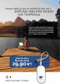 Telefónica ofrece un módem USB de Movistar con su ADSL