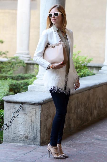 street style tendencia plumas