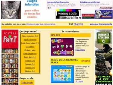Gato con bota: juegos para niños en Internet