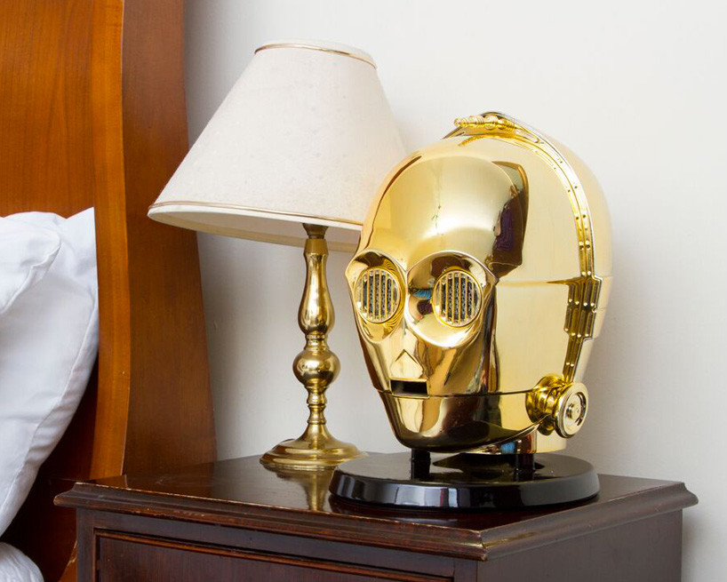Star Wars Audio System Gold Plated C3po Stormtrooper Heads 02