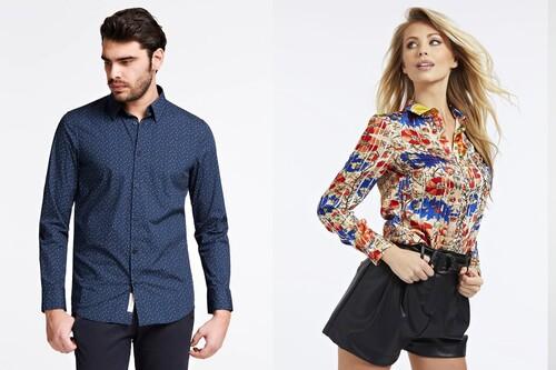 40% de descuento en la Mid Season Sale de Guess con camisas, vestidos, chaquetas o jerseys para hombre y mujer
