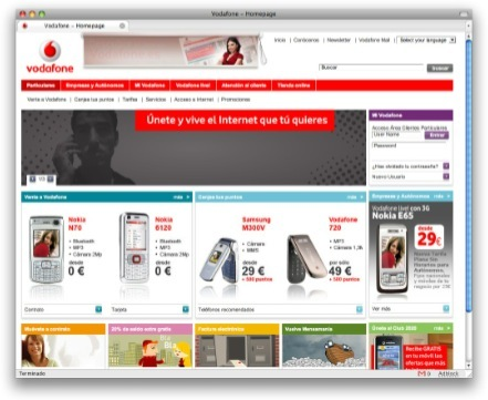 Vodafone vuelve a renovar su web