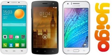 Precios Samsung Galaxy J1, Alcatel Pop S7 y Kazam Trooper 450 con Yoigo