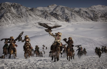 Eagle Hunters Of Western Chinakevin Frayersony World Photography Awards 2016