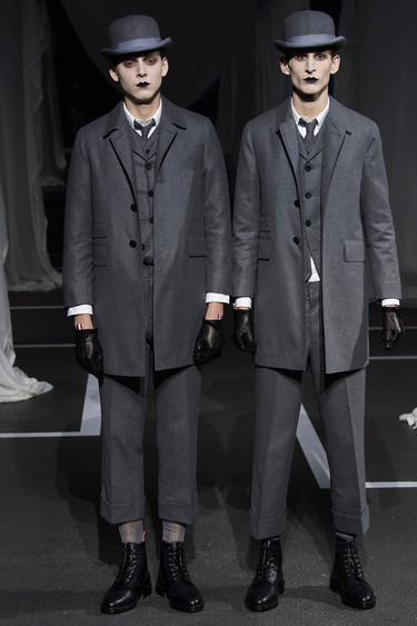 El homenaje a Rene Magritte de Thom Browne en el último desfile de la Paris Fashion Week para el otoño-invierno 2016
