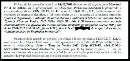 Euskaltel Proporciono A Los Denunciantes Los Datos De Sus Usuarios