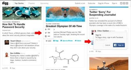 Digg estrena rediseño, más social ahora que nunca